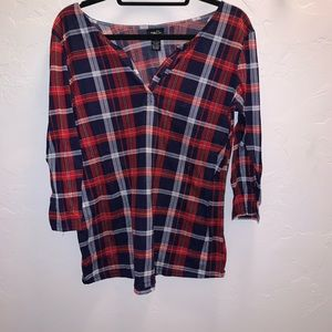 Red and blue flannel. Size XL